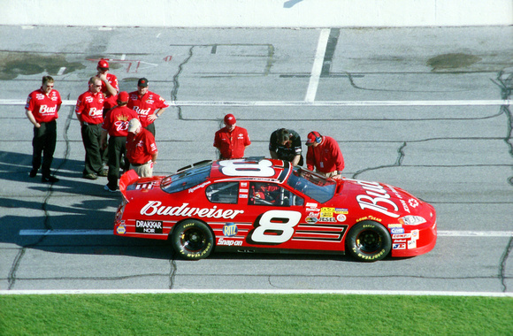 NASCAR Cup Series Dale Earnhardt Jr. 8 Budweiser Chevy Monte Carlo qualifying 2003 Daytona 500